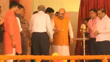 BJP President Amit Shah lays the foundation stone of 19 new cancer hospitals in Guwahati, Assam