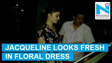 Jacqueline Fernandez's floral dress is perfect for summers