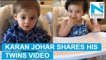 Karan Johar shares cute video of twins Yash and Roohi on Father's Day